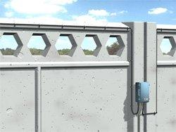Вариант установки на бетонном заграждении